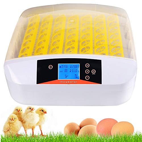 Inkubator, 56 Eier Brutmaschine Vollautomatisch Brutapparat Brutkasten für Hühner, Brutkasten mit LED...