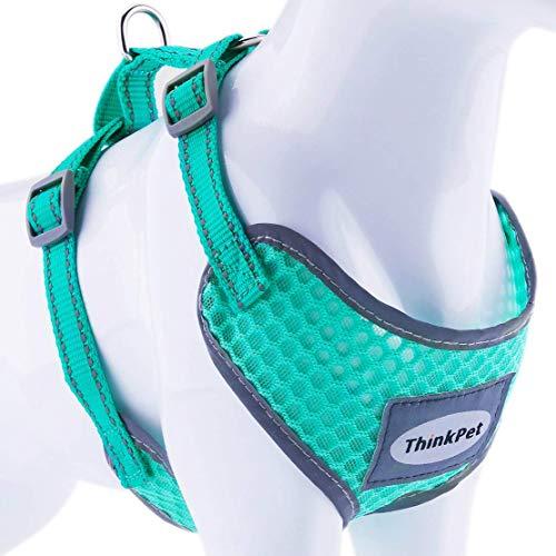 ThinkPet No-Pull Hundegeschirr - Atmungsaktiv Vest Geschirr Mesh Brustgeschirr für Hunde, reflektierend...