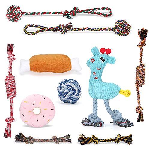 KIPIDA Welpenspielzeug für Hunde,10er Set Hundespielzeug für Welpe Kleine Hunde,Welpen Zahnen Spielzeug...