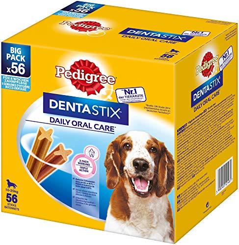 Pedigree DentaStix Daily Oral Care Zahnpflegesnack für Hunde – Hundeleckerli mit Huhn- & Rindgeschmack...