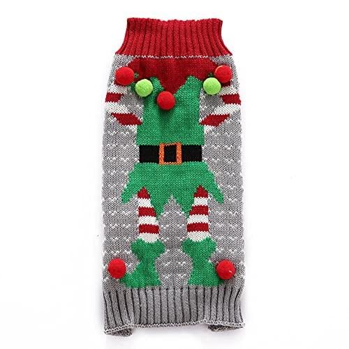 Weihnachten Hund Sweater, Weihnachten Haustier Hund Pullover Hund Warmer Pullover Pullover Süßes...