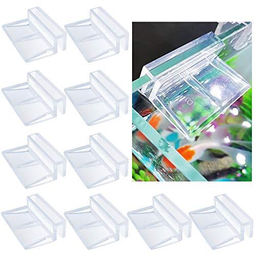 Chudian 10 Stück Glasabdeckungs-Clips für Aquarien, Acryl Aquarium Glasabdeckung Halter Aquarium...