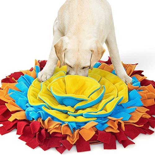 AWOOF Hundespielzeug Schnüffelteppich Hund Intelligenz Blütenform Hunde Schnuffelteppich Interaktives...