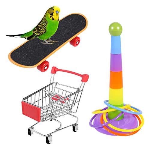 atnight Papagei Spielzeug Training Aktivitäten Set, 3 PCS Parrot Intelligence Spielzeug Mini Shopping...