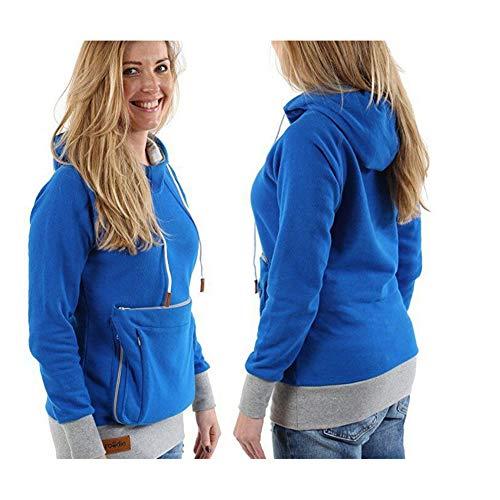 Boenxuan Damen Sweatshirt Mode Pullover Halter,Große Tasche Hoodie Kapuzenpullover Mit Reißverschluss...