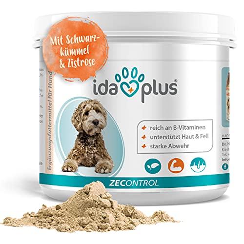Ida Plus ZECONTROL 250g – Das natürliche Zeckenmittel für Hunde - Schwarzkümmelöl, Bierhefe,...