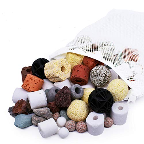 KAIISSA Aquarium-Filtermedien, Keramikringe, Biokugeln, poröser Filter, biochemischer Ball,...