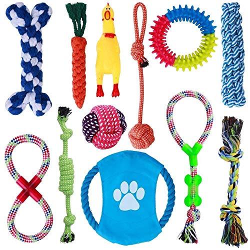 Parner Hundespielzeug, 12 Pcs Seil Ball Hunde Kauen Spielzeug Set Für Kleine große mittelgroßen Hund...