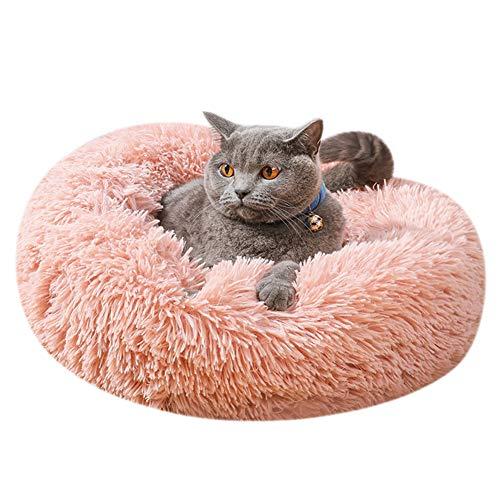 ITODA Haustierbett Donut Hundebett Haustier Bett Flauschig Katzenbett Warm Hundekissen Welpenbett Weich...