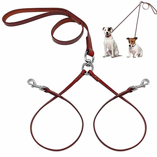 Pet Artist Hundeleine aus weichem Leder, 2-Wege-Leine für kleine Hunde, Welpen, leichtgewichtig, mit...
