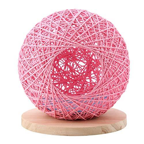01 Hamsterkäfig, hölzernes Hamsterversteck, modisches wiederverwendbares 3-Farben-Versteck(Pink...
