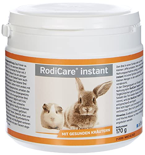 RodiCare® instant 170 g Einheit: 170 g Alleinfuttermittel für Zwergkaninchen, Meerschweinchen, Degus...