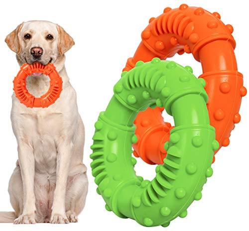 Hundespielzeug Kauspielzeug Hunde, Hunde Spielzeug für Starke Kauer Ring Spielzeug Hund, Hundespielzeug...
