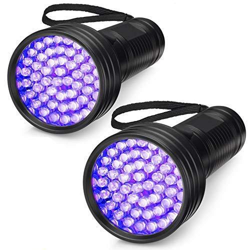 UV-Taschenlampe 51 LEDs 395 nm UV-Schwarzlicht Urin-Detektor für Hunde Haustierflecken Bettwanzen...