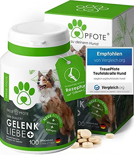 TreuePfote Gelenktabletten für Hunde mit Grünlippmuschel, Teufelskralle und MSM I Gelenktabletten Hund...