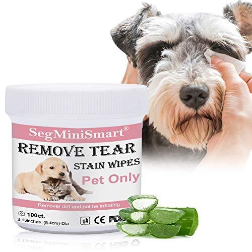SEGMINISMART Augen-Reinigungspads für Hunde und Katzen 100 Stück, Milde Augen-Reinigung ohne zu Reizen,...