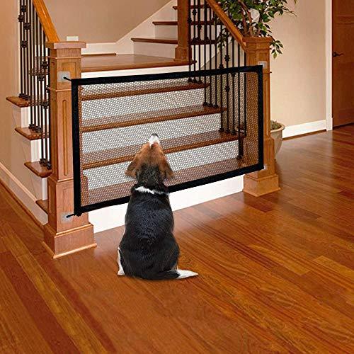 LAOSHIZI Hundebarrieren, Faltbar Treppenschutzgitter Absperrgitter für Hunde/Katzen/Babys/Haustiere...