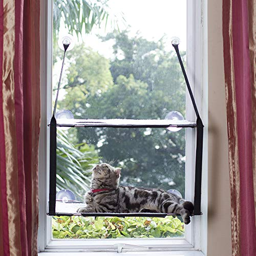L.S Katzen Hängematten Fensterplatz Fenster Betten Katzenbett Bis zu 25kg Stabiler Metallrahmen Weiche...
