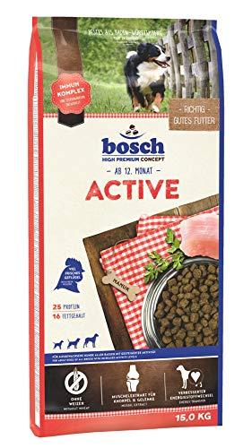 bosch HPC Active | Hundetrockenfutter für ausgewachsene Hunde aller Rassen mit gesteigerter Aktivität |...