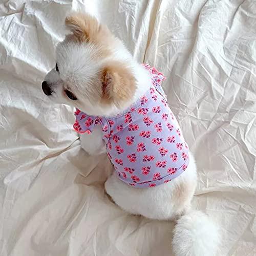 XIAOTAO Katze Hund Kleidung Haustier Urlaub verkleiden Sich Sommer Hundebekleidung Blumenstickerei...