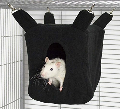 Rodents Residence Würfel Kuschelhängematte Kleintier Höhle Haus Häuschen Ratte Chinchilla Frettchen...