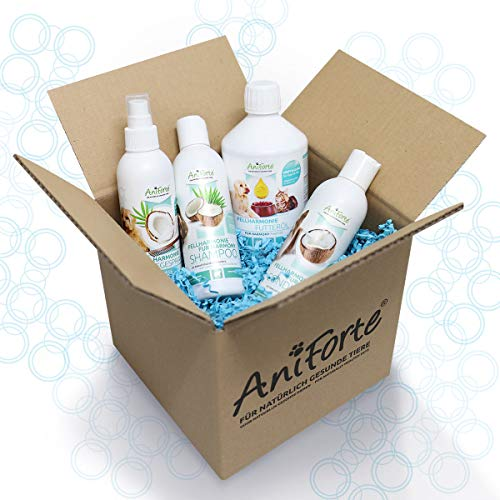 AniForte Fellharmonie Hundeshampoo mit Aloe Vera 200ml - natürliche Pflege für Fell & Haut, Shampoo...