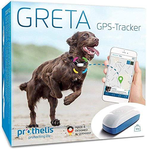Prothelis Greta Hunde GPS Tracker für Halsband | Made in Germany | Gerät zur Hunde Ortung mit Handy...