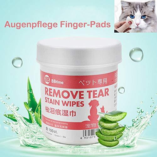 VAGAVDirect Augen-Reinigungspads, Haustier-Augen-Tücher, Schonende Reinigungstücher ohne zu Reizen,...
