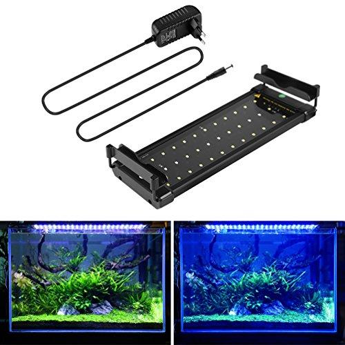 BELLALICHT Aquarium LED Beleuchtung, Aquariumbeleuchtung Lampe Weiß Blau Licht 6W mit Verstellbarer...