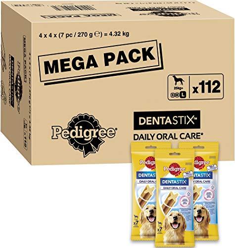 Pedigree DentaStix Daily Oral Care Zahnpflegesnack für große Hunde – Hundeleckerli mit Huhn- &...