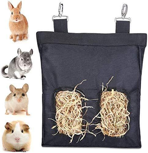 Kaninchen-Heu-Futterstation, Heutasche zum Aufhängen, Futterspender für Kaninchen, Kaninchen,...