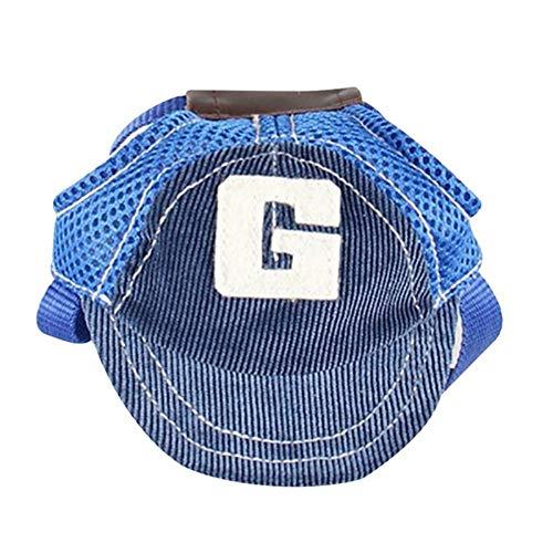 Pvnoocy Haustier-Baseballkappe, verstellbar, für Hunde, Outdoor-Sport, Sonnenschutz, Baseballmütze mit...