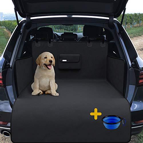 Hundedecke Auto Rückbank/Kofferraum/Vordersitz + gratis Napf | Wasserdicht rutschfest Waschbar | Hunde...
