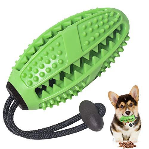 Zahnbürsten-Stick, Ball Leckerli-Spender für Hunde Welpen-Zahnpflege, Bürsten und Kauspielzeug,...