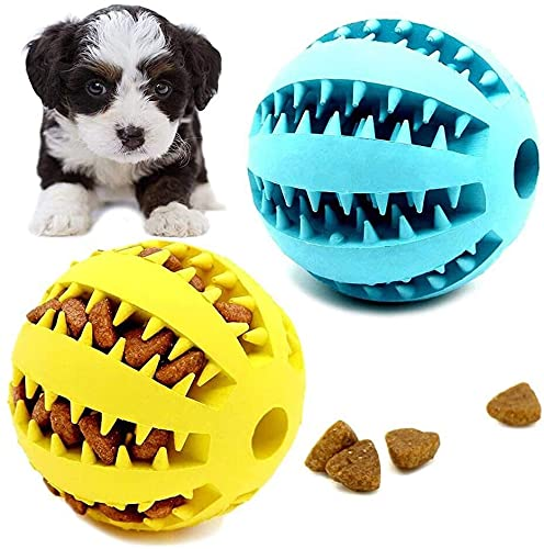 Hundespielzeug-Ball, Hunde-Leckerli-Spielbälle, ungiftig, Gummi, Hunde-Puzzle-Spielzeug, Spielzeug für...