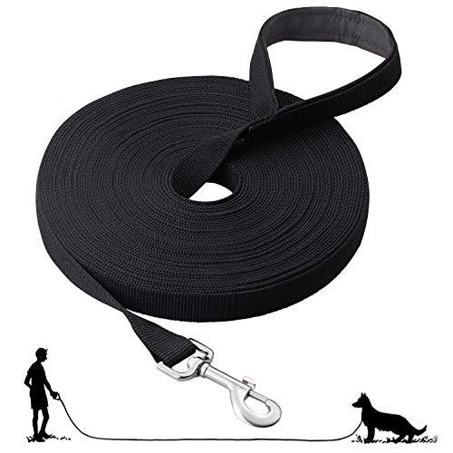 Fttouuy Schleppleine Hunde - 5m Übungsleine mit Gepolsterten Griff- Robuste Trainings Leine aus...