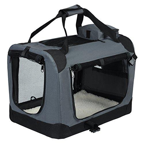 EUGAD Hundebox faltbar Hundetransportbox Auto Transportbox Reisebox Katzenbox 0112HT