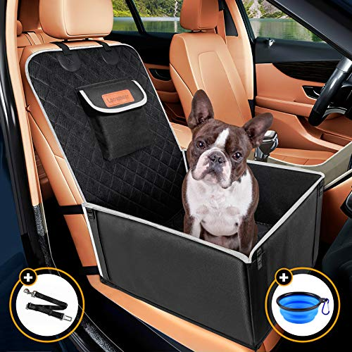 Looxmeer Hunde Autositz für Kleine Mittlere Hunde, Vordersitz & Rückbank Hundesitz Auto mit...