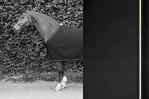 TIM´S Equestrian Sweat Rug Black mit Schwarz-Lurex, Champagner, Schwarz-Lurex Kordeln abschwitzdecke...