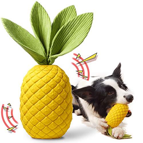 Rmolitty Hundespielzeug, Unzerstörbares Kauspielzeug für Hunde, Langlebiger Gummi Quietschspielzeug...