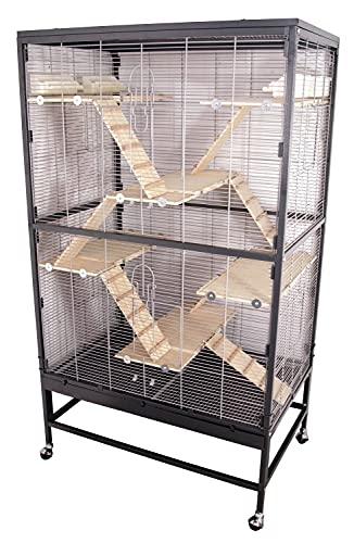 PETGARD Kleintierkäfig, großes XXL-Nagervoliere auch für Ratten und Chinchillas, Gehege auf Rollen mit...
