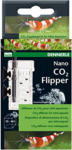 Dennerle CO2 Nano-Flipper - leistungsfähiges, kompaktes CO2-Zugabegerät speziell für Mini-Aquarien