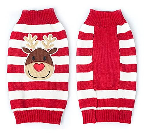 Dosige 2PCS Hundekleidung,Weihnachtshundekostüme, Hund Winterpullover, Haustier Strickpullover mit...