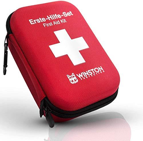 Winston Protection ®️ Erste Hilfe Set - Erste Hilfe im 30-teiligen Set mit Zeckenzange und Pinzette -...