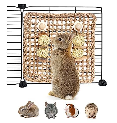YUNXANIW Hamster Spielzeug, Kaninchen Zubehoer, Kleintierspielzeug zum Knabbern und um Langeweile zu...