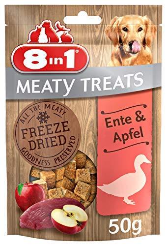 8in1 Meaty Treats, gefriergetrocknete Hunde Leckerlis mit Ente & Apfel, getreidefrei und ohne Zucker (1...