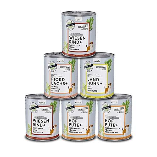 naftie Bio Hundefutter Mischpakete | Bio-Nassfutter Menüs Spar-Pakete mit 4 Sorten | Glutenfrei | 35%...