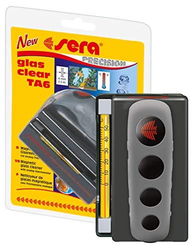 Sera glas clear TA6 ein Algenmagnet fürs Aquarium mit Thermometer als Scheibenreiniger bzw....
