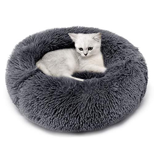 Katzenbett, Plüsch Weich Runden Katze Schlafen Bett/Klein Hund Bett/Haustierbett/katzenbettchen/Betten...