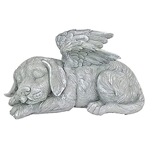 Fenteer Memorial Statue-Schlafen Engel Hund/Katze Erinnerung Andenken Skulptur Grab Marker Stein Figur zu...